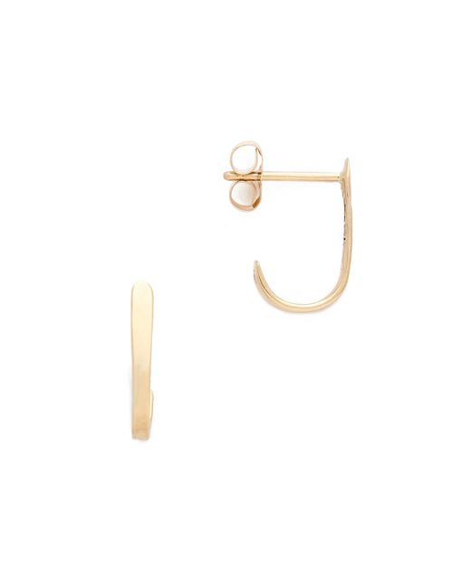 Blanca Monros Gomez | Metallic Curved Bar Stud Earrings | Lyst