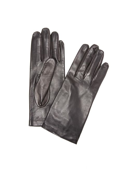 Carolina Amato | Black Full Leather Gloves | Lyst