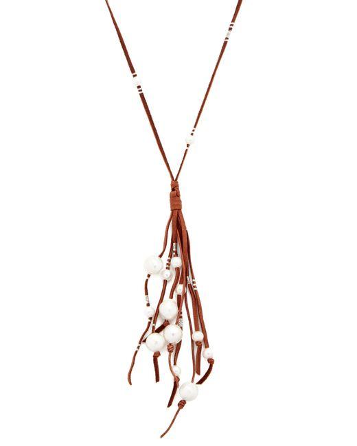 Chan Luu | Multicolor Suede Fringe Necklace | Lyst