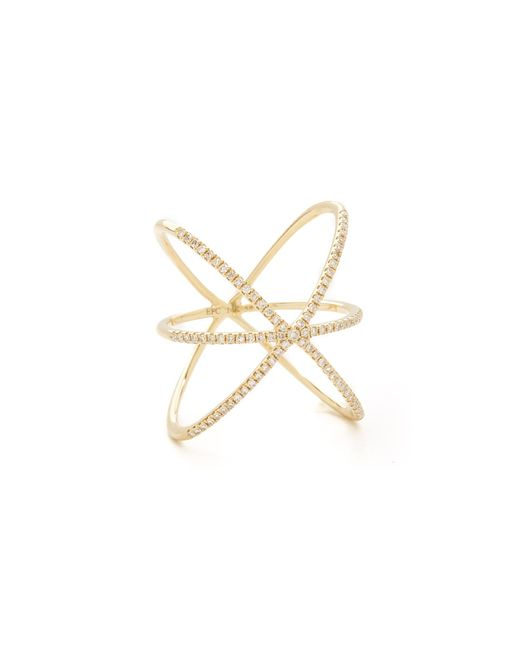 EF Collection | Yellow Diamond Cage Ring | Lyst