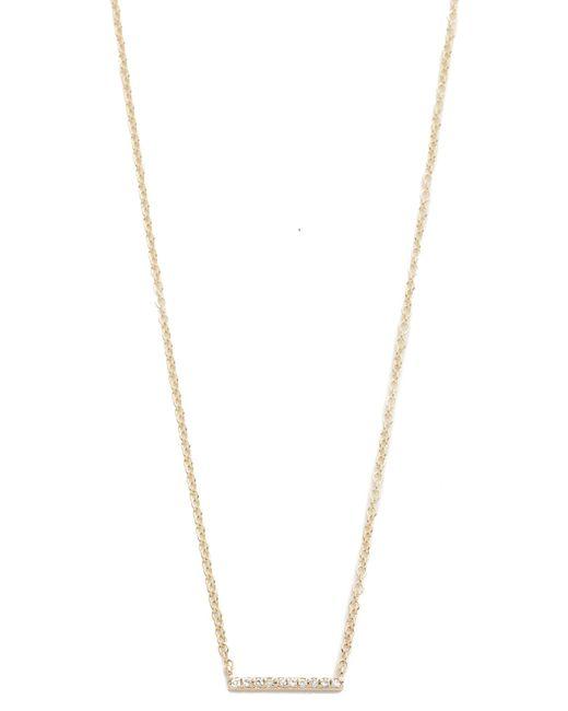 EF Collection | Metallic Diamond Mini Bar Necklace | Lyst