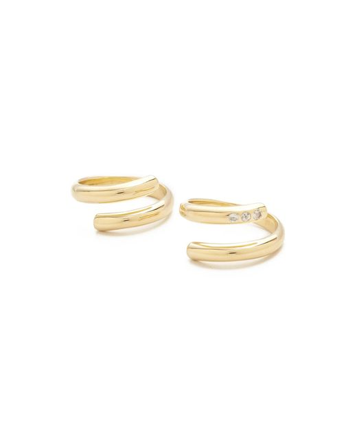 Elizabeth and James | Metallic Pearce Twist Rings Set | Lyst