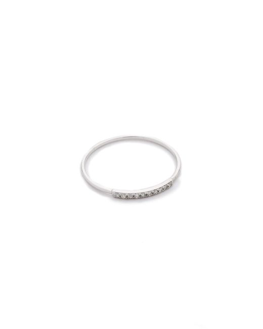 Gabriela Artigas | Metallic Pave Diamond Mini Axis Ring | Lyst