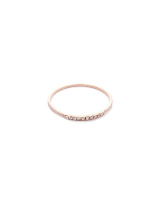 Gabriela Artigas | Pink Pave Diamond Mini Axis Ring | Lyst