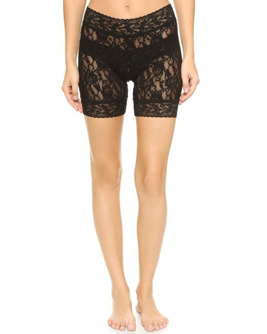 Hanky Panky | Black Signature Lace Bike Shorts | Lyst