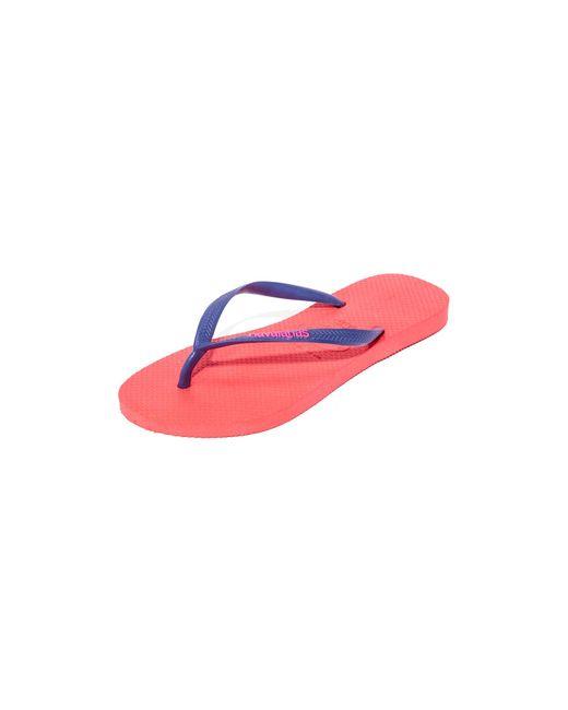 Havaianas | Pink Slim Logo Pop-up Flip Flops | Lyst