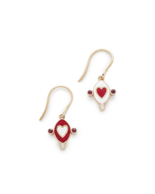 Holly Dyment | Multicolor Go Lightly Heart Earrings | Lyst