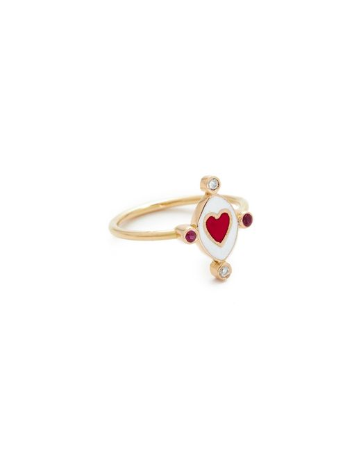 Holly Dyment   Multicolor Go Lightly Heart Ring With Rubies   Lyst