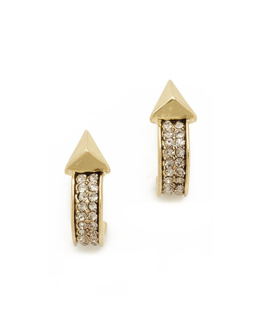 house of harlow 1960 dakota hoop earrings in gold lyst