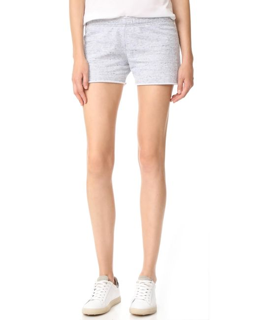 Monrow | Gray Burnout Shorts | Lyst