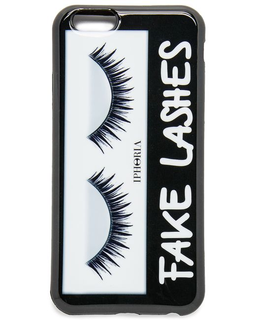 iphoria fake lashes iphone 6 6s case in white white. Black Bedroom Furniture Sets. Home Design Ideas