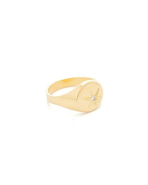 Jacquie Aiche | Multicolor Ja Burst Flat Top Signet Pinky Ring | Lyst