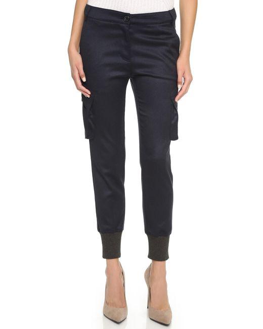James Jeans | Black Slouchy Fit Utility Cargo Pants | Lyst