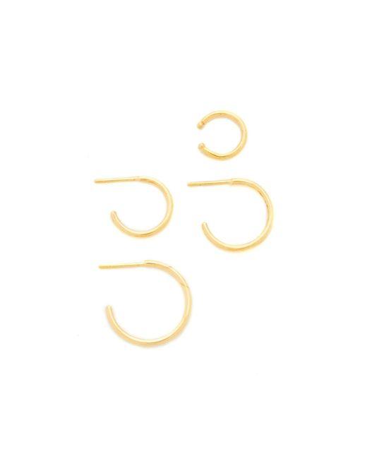 Joanna Laura Constantine | Metallic Mini Nail Hoop Earrings Set Of Four | Lyst
