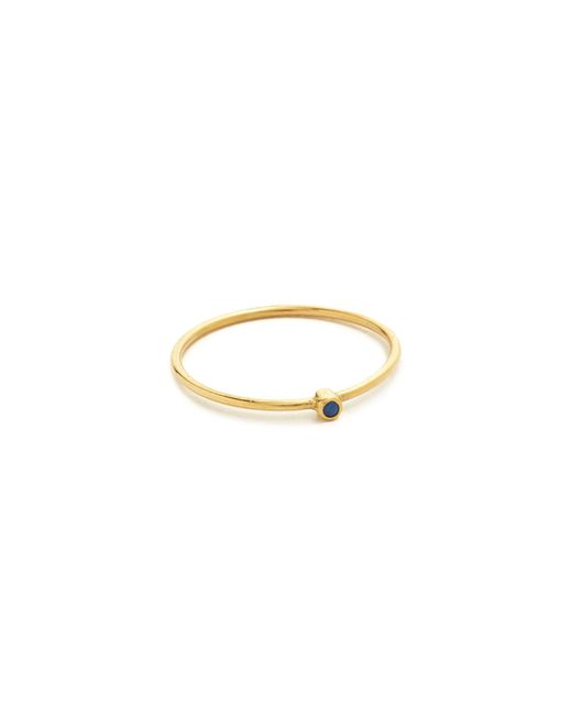 Jennifer Meyer | Blue Thin Ring With Sapphire | Lyst