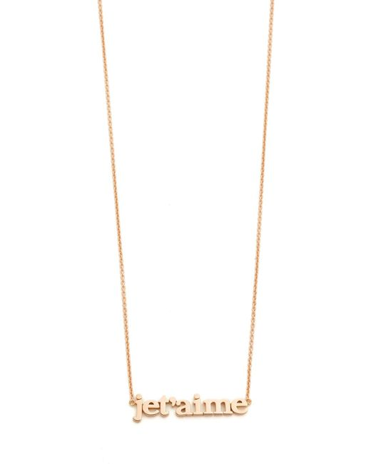 Jennifer Meyer | Pink Jet'aime Necklace | Lyst