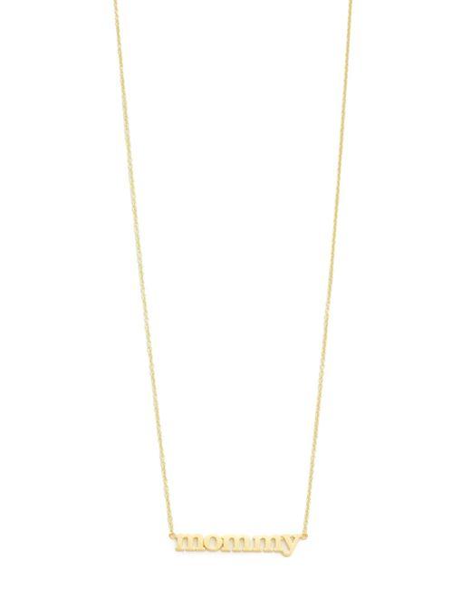 Jennifer Meyer | Metallic Mommy Necklace | Lyst