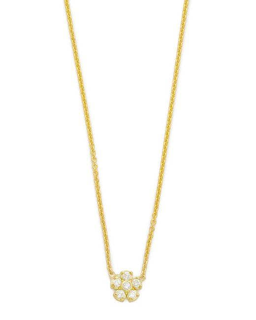 Jennifer Meyer | Metallic Diamond Single Flower Necklace | Lyst