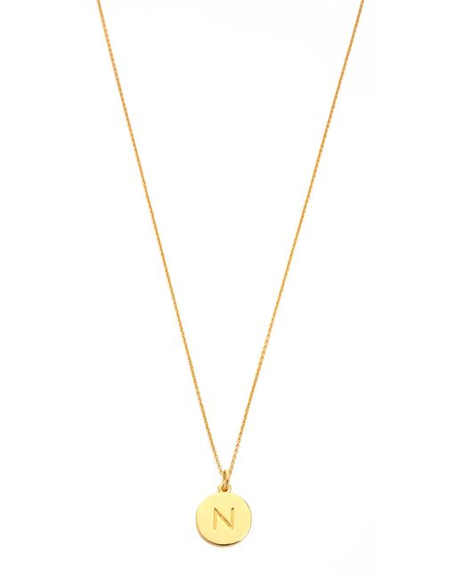 kate spade new york | Metallic Letter Pendant Necklace | Lyst