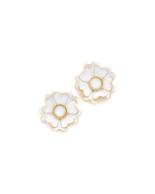 Kate Spade | White Bright Blossom Flower Stud Earrings | Lyst
