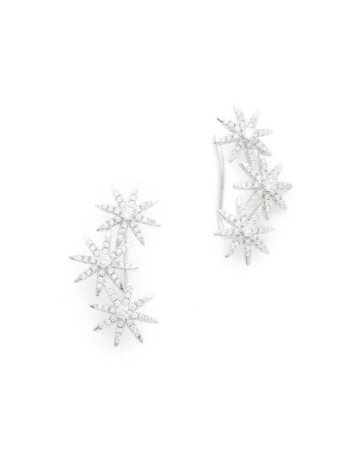 Kenneth Jay Lane | Metallic Triple Star Ear Crawlers | Lyst