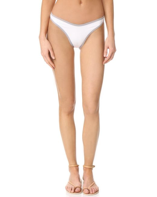 L*Space | White Colorblock Whiplash Bottoms | Lyst