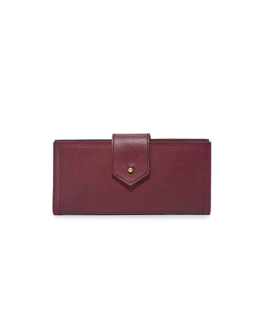 Madewell | Purple Post Wallet | Lyst