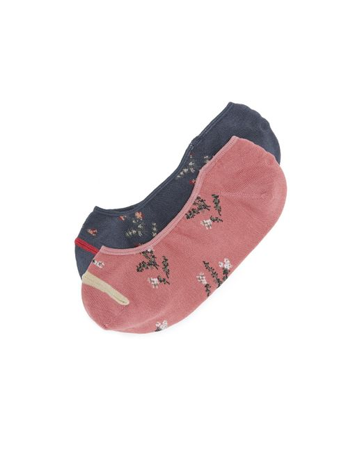 Madewell   Multicolor Floral Pattern No Show Sock 2 Pack   Lyst