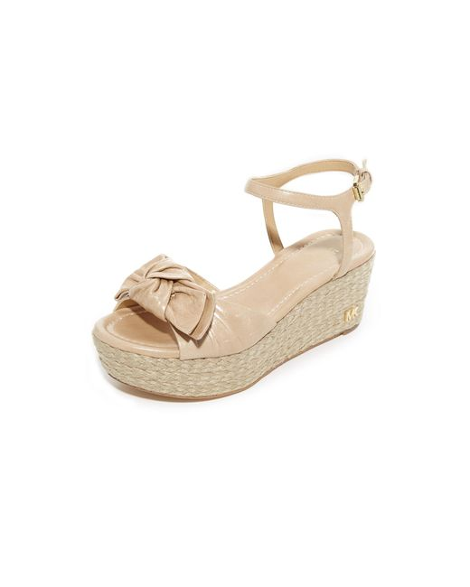 MICHAEL Michael Kors | Natural Willa Mid Wedges | Lyst