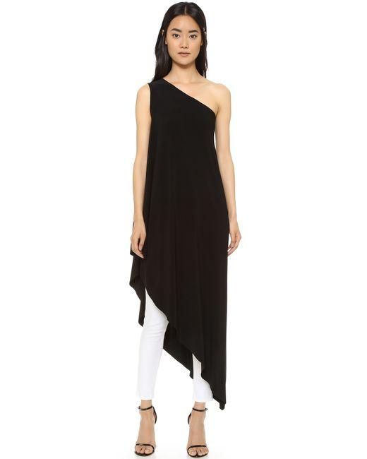 Norma Kamali   Black Kamali Kulture One Shoulder Diagonal Tunic   Lyst