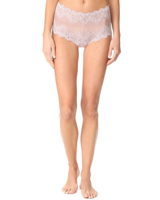 Only Hearts | Pink So Fine Lace Cheeky Briefs | Lyst
