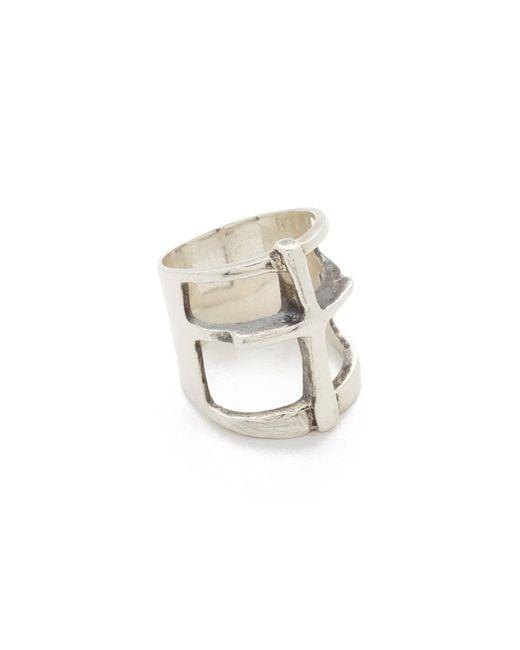 Pamela Love | Metallic Cross Ring | Lyst