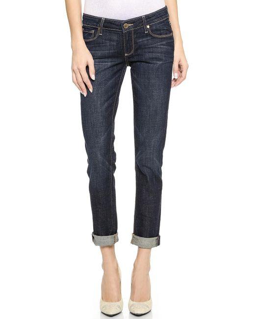 PAIGE | Blue Jimmy Jimmy Skinny Boyfriend Jeans | Lyst