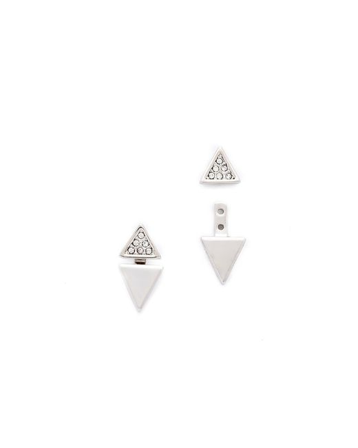 Rebecca Minkoff | Metallic Double Triangle Earrings | Lyst