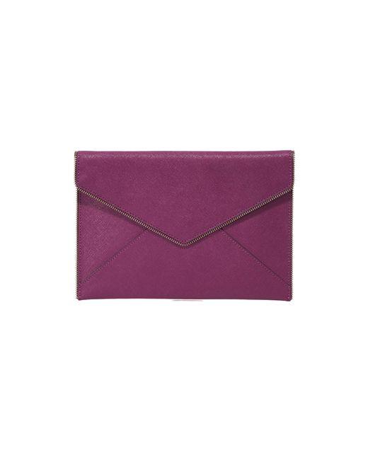 Rebecca Minkoff | Purple Leo Clutch | Lyst