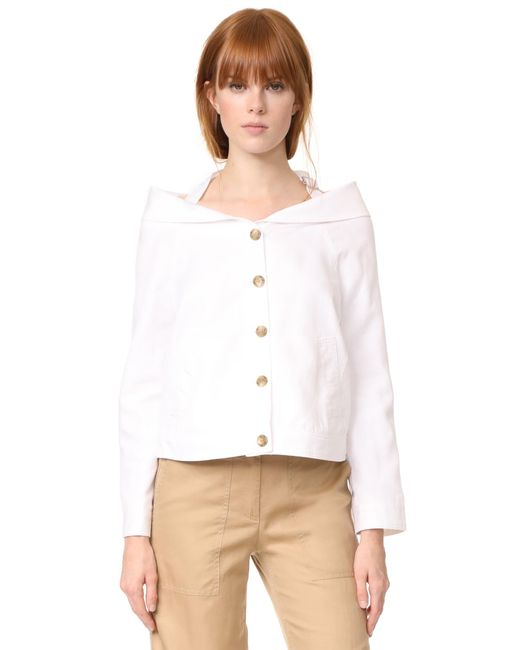 Robert Rodriguez | White Portrait Collar Jacket | Lyst