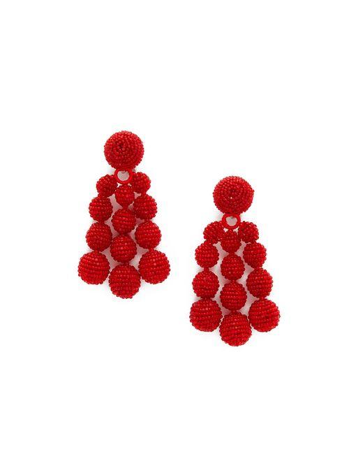 Sachin & Babi   Red Trinity Clip On Earrings   Lyst