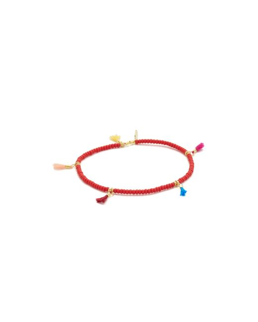 Shashi | Red Lilu Seed Bracelet | Lyst