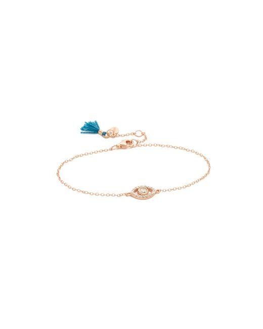 Shashi | Pink Evil Eye Bracelet | Lyst