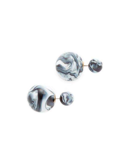 Shashi | Multicolor Marble Double Ball Earrings | Lyst