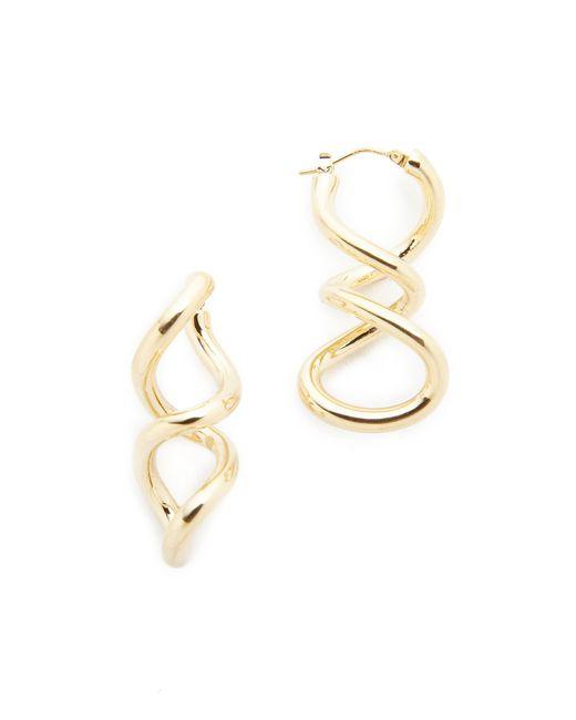Soave Oro | Metallic Twist Earrings | Lyst