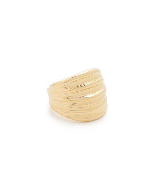 Soave Oro | Metallic Ribbed Graduated Ring | Lyst