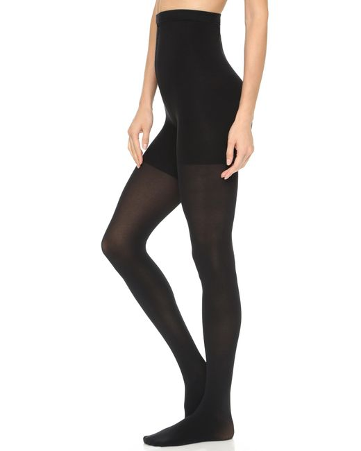 Spanx | Black High Waisted Luxe Leg Tights | Lyst