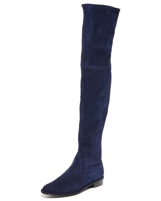 Stuart Weitzman | Blue 'lowland' Over The Knee Boot | Lyst