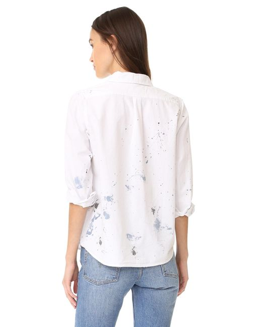 The Great The Campus Shirt In White Lyst