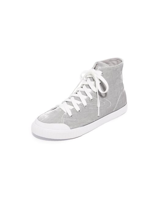 Tretorn | White Marley Velvet High Top Sneakers | Lyst