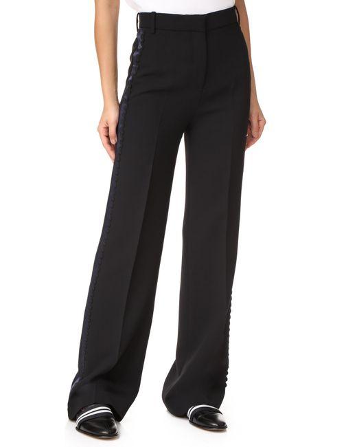 Victoria, Victoria Beckham | Black Wide Leg Tux Pants | Lyst