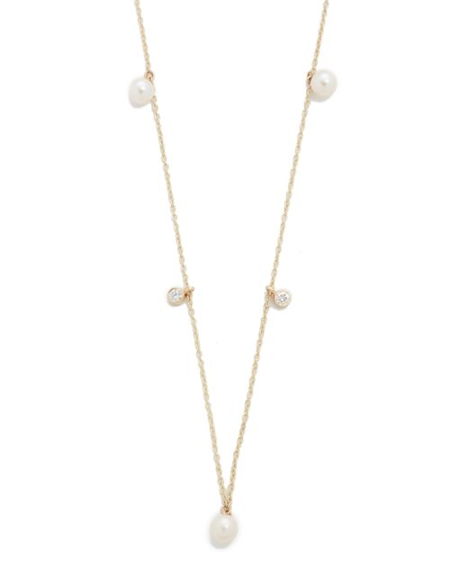 Zoe Chicco | Metallic Freshwater Cultured Pearl Station Necklace | Lyst