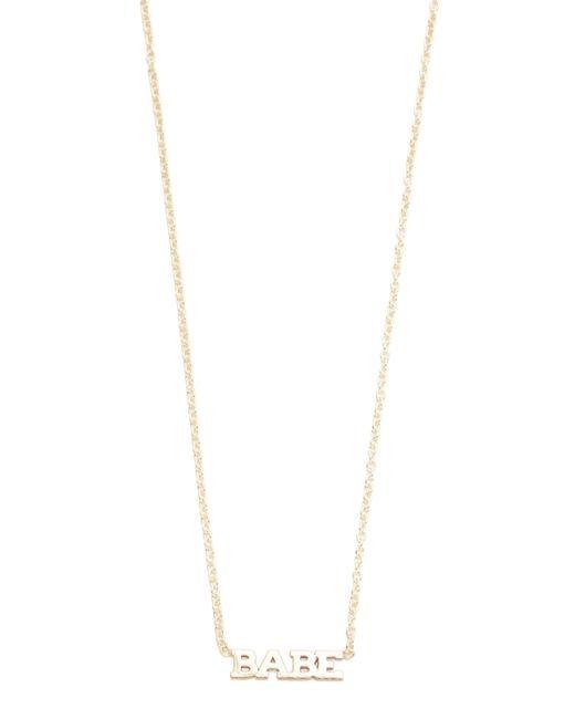Zoe Chicco | Metallic Babe Short Pendant Necklace | Lyst