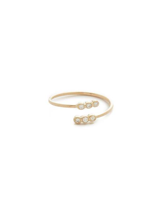 Zoe Chicco   Metallic Bezel Diamonds Pinky Ring   Lyst
